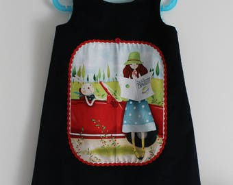 "Winter dress ""trip with my Bunny"" T 5 years"