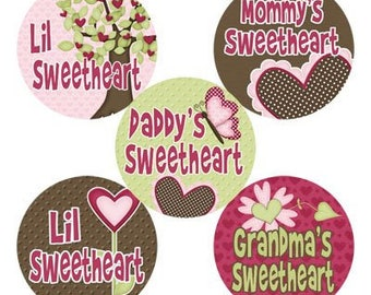 Lil Sweetheart INSTANT DOWNLOAD Images for Bottle Caps 4x6