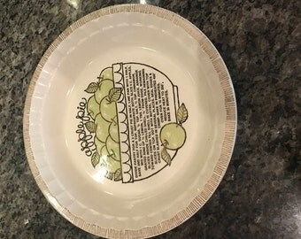 Vintage Apple Pie Plate