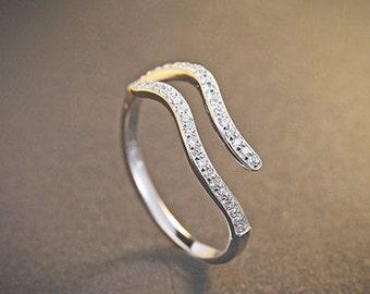 925 Sterling Silver Aquarius Ring