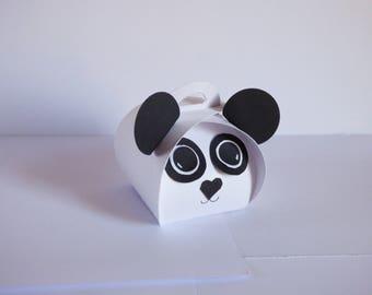 lozenge panda baptism scrap boxes