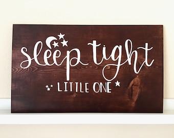 Wood Sign // Home Wall Decor // Baby Girl / Boy // Nursery // Sayings // Quotes // Kids  - Sleep Tight, Little One