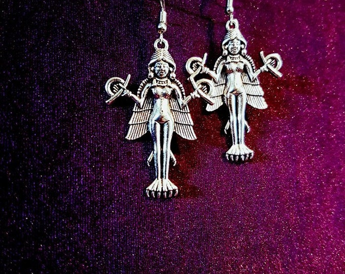 Lilith Earrings - Demonic Satanic Demon Mother Vampiric Demoness Lilith Occult Left Hand Path