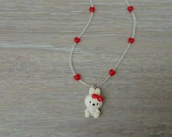 Hello kitty handmade necklace