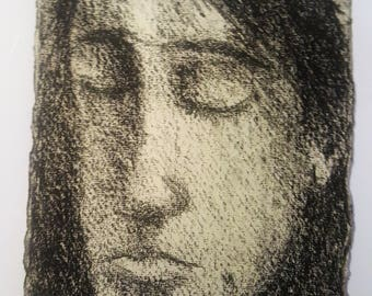 Tribute to G.Seurat 2, original drawing on paper chiffo
