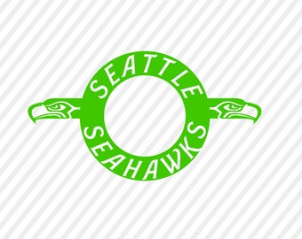 seattle seahawks svg, seahawks monogram digital file, cricut file, silhouette  files, svg cutting files, sports logo monogram svg