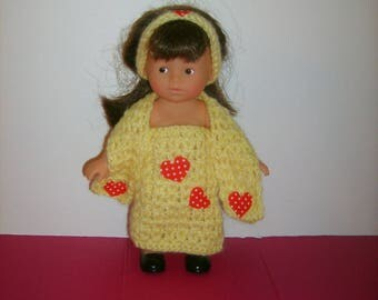 Crochet mini doll outfit