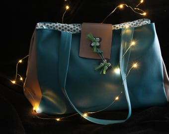"""""""Bodie"""" faux turquoise leather bag"""