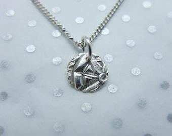 Handmade Silver Compass pendant