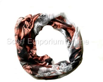 Tahiti Flower Scarf Floral Autumn Scarf / Fashion Accessories / Women Scarves / Gifts For Her