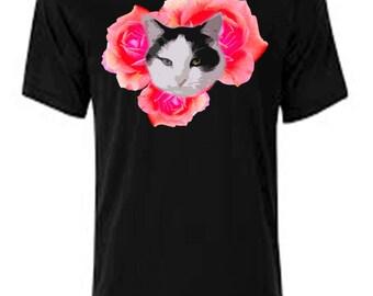 Cat n' roses