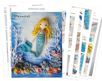 Mermaid  / pinkertoh Crochet Pattern (not included the underwater world) / Amigurumi