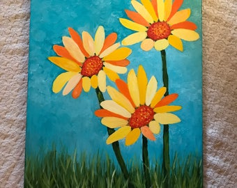 Abstract Mixed Daisys