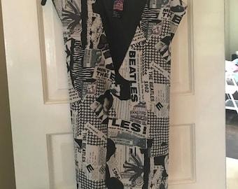 Vintage The Beatles Silk Vest