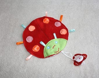 Flat red baby blanket