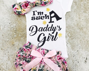 Baby Girl Clothes, Baby Clothes Girl, Daddy's Girl, Baby Girl Clothes Daddy, Daddy Daughter, Newborn Girl Outfits, Baby Clothes Daddy