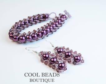 Bracelet and earings set
