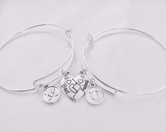 Valentine day gift, Best friend gift, friendship bracelet, Bangle set of two, Best friends, Gift to her, Bangle to Cousin, gift to mom