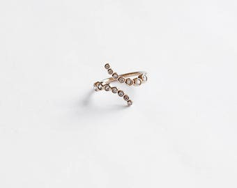 Gold Stacking Ring, Stackable ring, Gold Ring, Minimal Jewelry,  R028