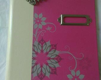 Notebook 100% handmade girly