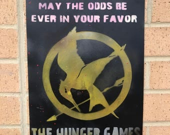 Hunger Games Spray Paint Poster