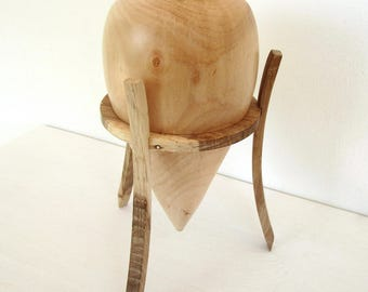 Wood amphora, design vase, decorative vase, wood vase, small wooden vase, turned vase, home interior, wood container