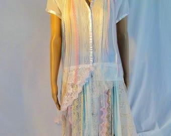 Boho, gypsy, tattered, fairy, wearable art, shabby chic, transformed apparel