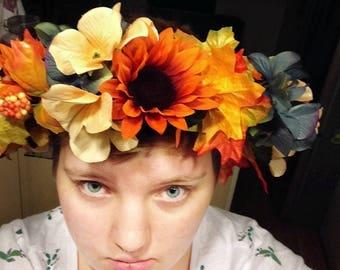 Fall/Autumn flower crown