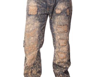 Men's Ripped & Repair Denim Sahara Jeans - Fall Collection