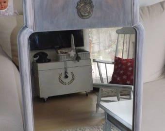 Narrow antique wall mirror - mirror (45 x 120 cm) SHABBY CHIC
