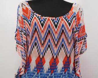 CHARLOTTE RUSSE Made in USA Lady's Top Blouse Tunic Shirt