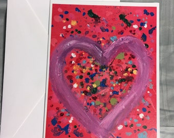 Note Card Heart Abstract 2