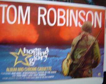 Tom Robinson Hope and Glory 1984 Original Rare Uk Poster