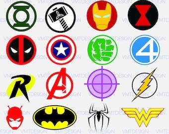 Super Heroes Logo Svg, Super Heroes Svg, Super Heroes vinyl, Super Heroes decal, Super Heroes stencil, file download eps, svg, png, jpg, pdf