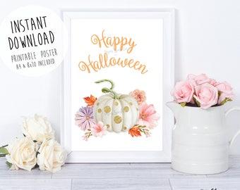 Happy Halloween poster,Halloween game,Halloween Birthday,Halloween Party Sign,Halloween Printable,Halloween welcome sign,Halloween invite