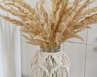 Macrame Hurricane, Macrame Vase, Macrame Jar, Macrame Candle Holder, Flower Vase Decor, Hurricane Candle Holder, Made to order