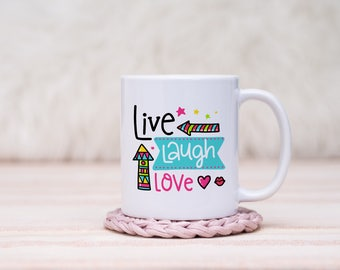 Live Laugh Love Mug // Gift For Her, Planner Gift, Mother's Day Gift