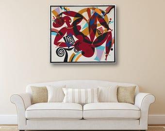 Erotic Art Acrylic on Canvas Art Painting Acrylic Painting Abstract Painting Original Painting  Painting Art Acrylic Living Room Decor