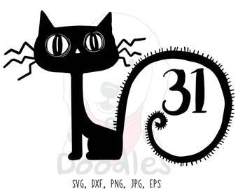 black cat svg file / halloween svg / halloween svg file / svg files / halloween svg files / fall svg / halloween cut files / halloween / cat