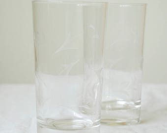 Etched Water Glasses