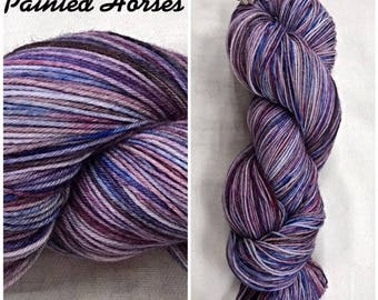 Painted Horses Hand Dyed Yarn
