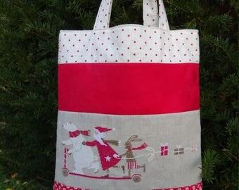 Bag pattern: Santa Claus scooter