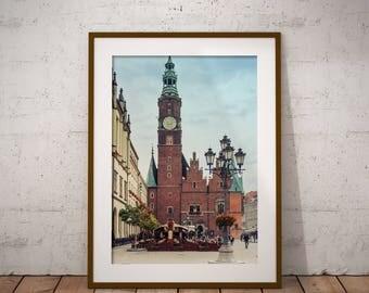 Metal Print - Wroclaw, Cityview Photography - Metalic Aluminum Print, Fine Art, Wall Art, Nature Print, Home Decor, Photography