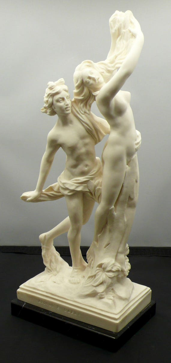 Vintage 12 inch Statue of Apollo E Dafne, by A. Santini Made in Italy
