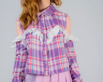 Candy floss frilled Blouse
