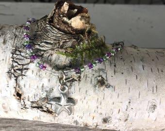 starfish charm bead bracelet