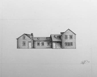 Custom Ink Drawing of Your Home
