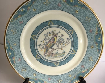 Vintage Lenox Oxford Bone China Malaysia Blue Bird Dinner Plate with Stand