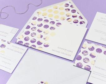 Polka Dot Chic Purple Invitation