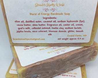 Burst of Energy Artisan Soap with Exfoliating Jojoba Beads